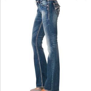 Silver Suki Surplus Bootcut Distressed Jeans 26